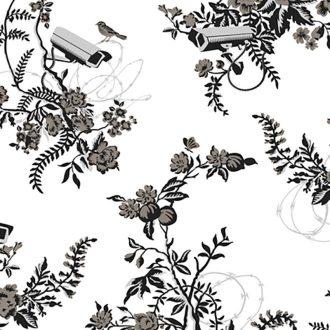 image vigilant floral wallcovering