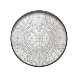 Moroccan Frost Mirror Round Tray, Large