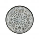 White Marrakesh Driftwood Round Tray, Large