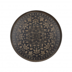 Black Marrakesh Driftwood Round Tray, Large