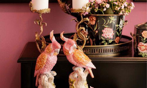 image parrot candleholder