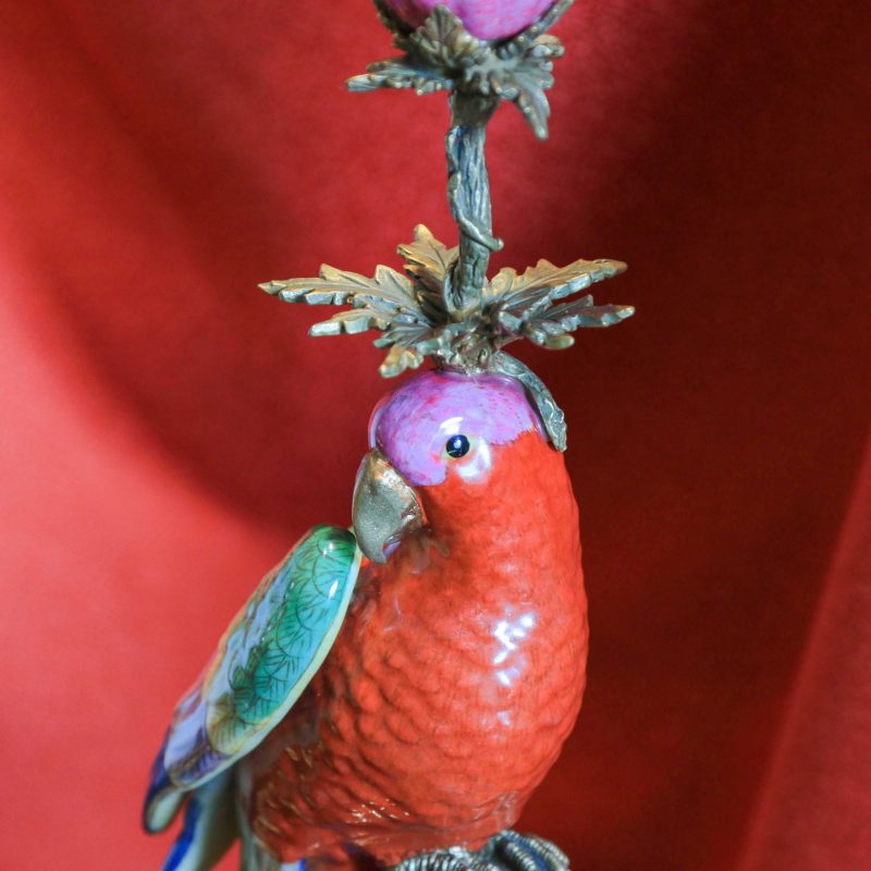 secondary image parrot candleholder
