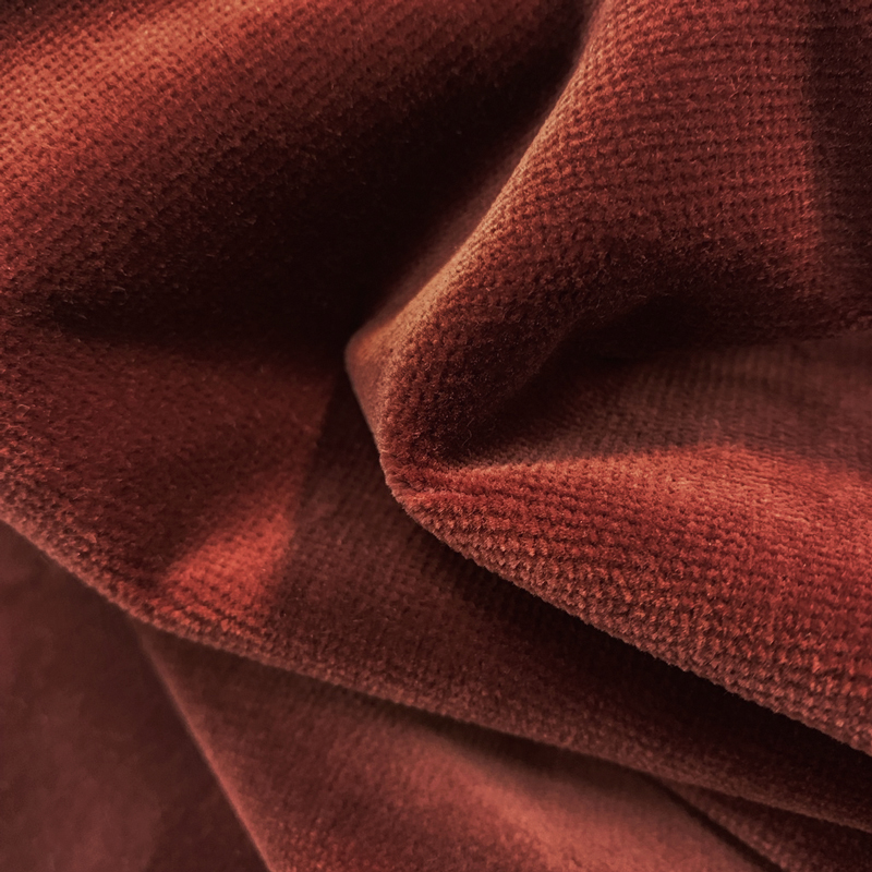 Albert Velvet Fabric, Rust