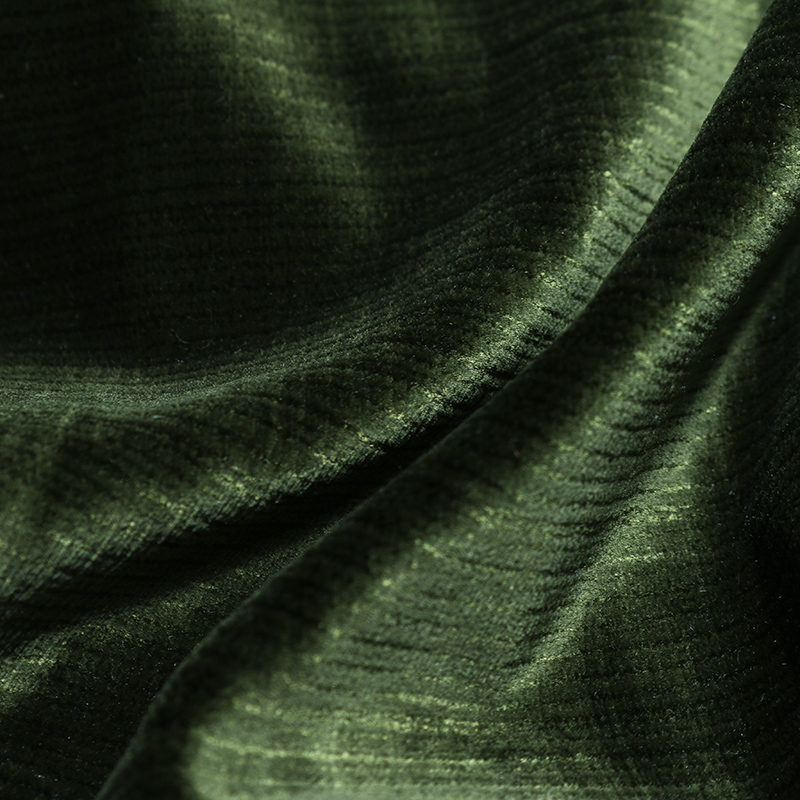 Mabel Velvet Fabric, Deep Forest Green
