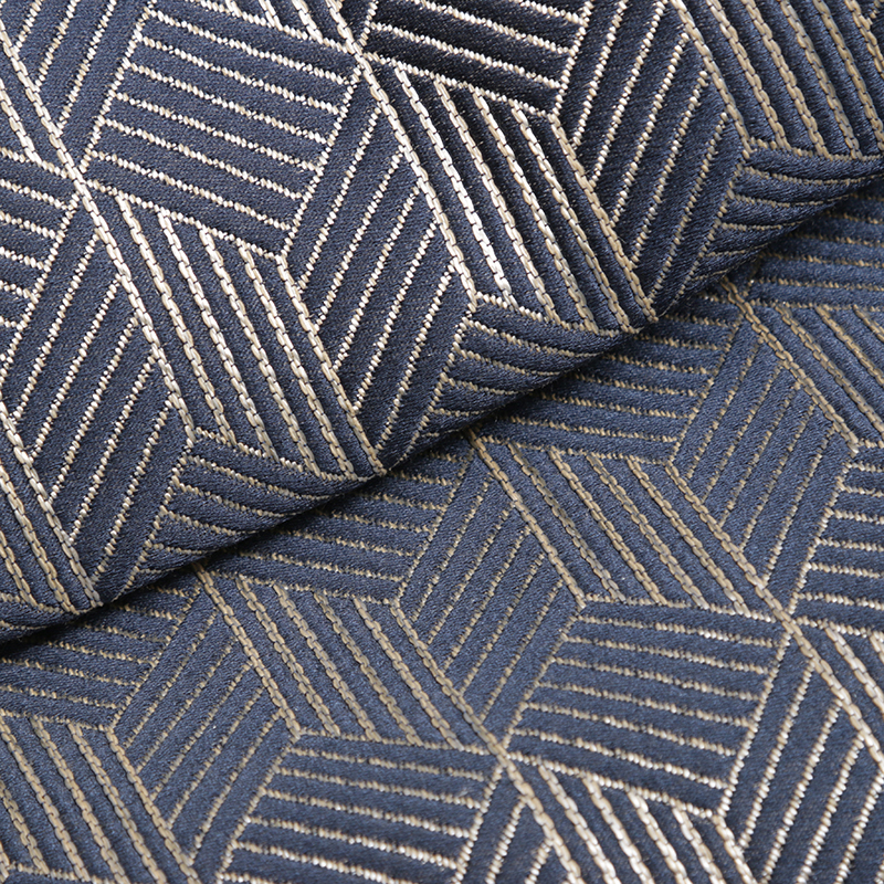 Clarence Metallic Effect Fabric, Prussian