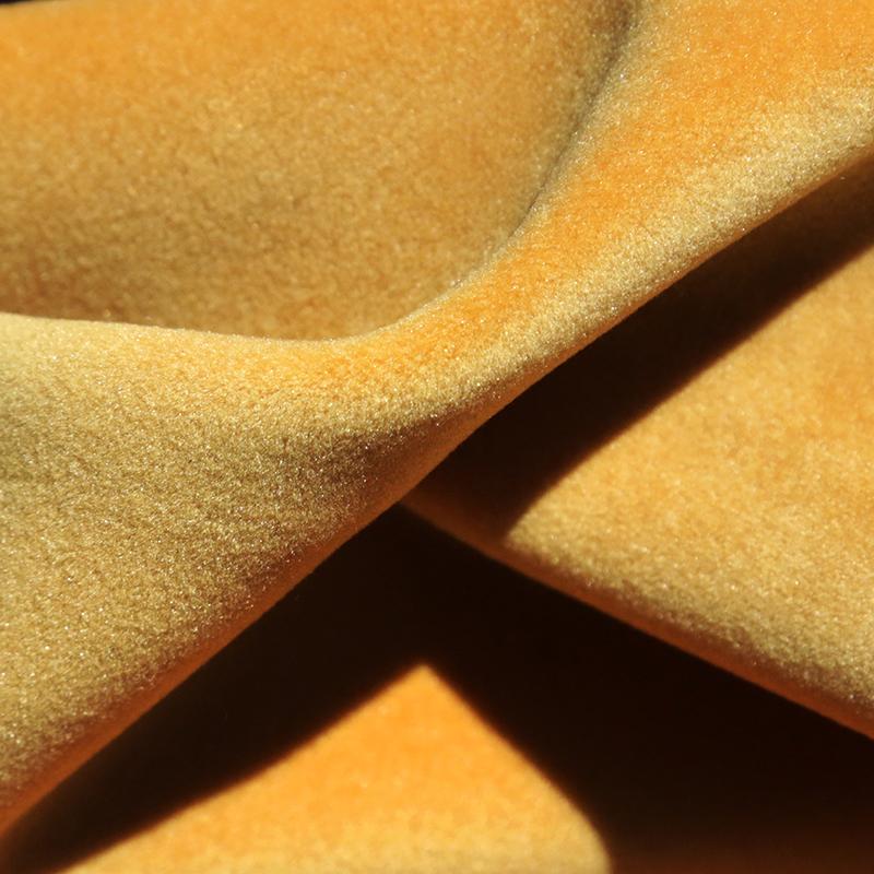 Matilda Velvet Fabric, Mustard