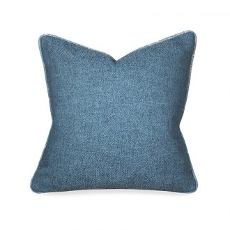 light blue textured cushion