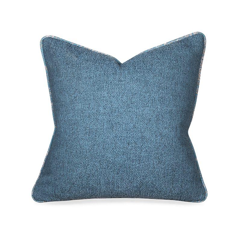 light blue textured cushion