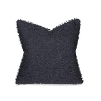 Dark Blue Textured Cushion, Medium