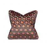 Orange Honeycomb Cushion, Medium