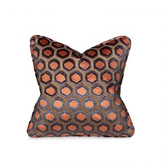 Orange Honeycomb Cushion, Medium