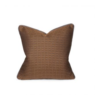 Orange Patterned Cushion