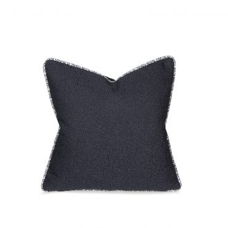 Dark Blue Textured Cushion, Small