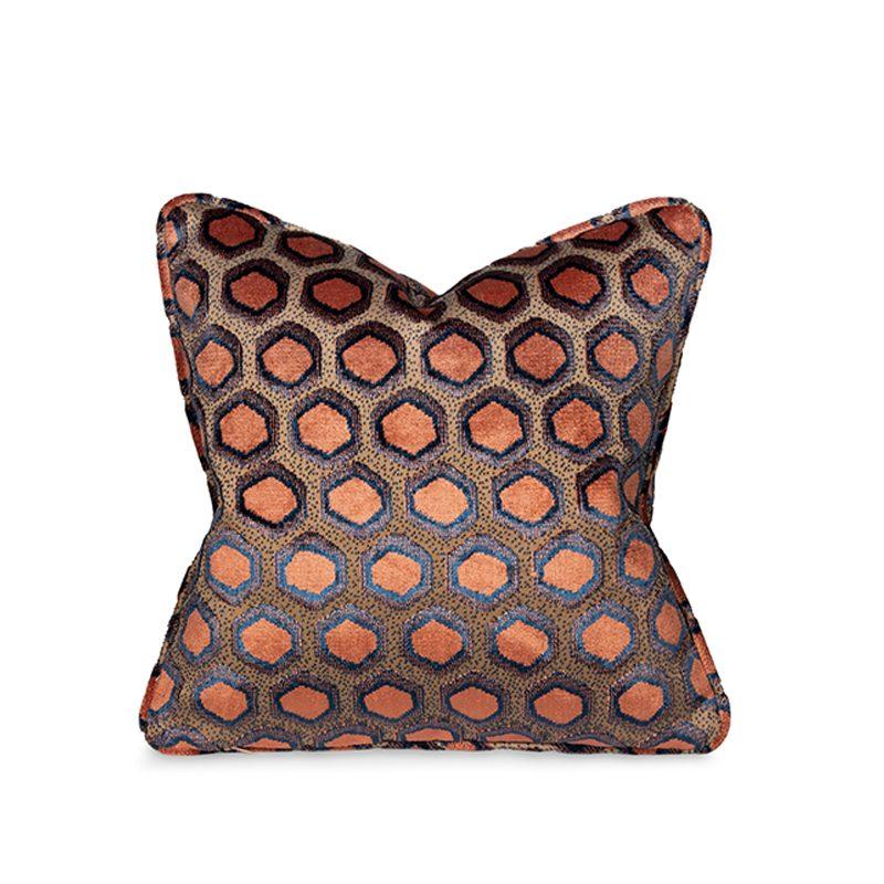 Orange Honeycomb Cushion, Small
