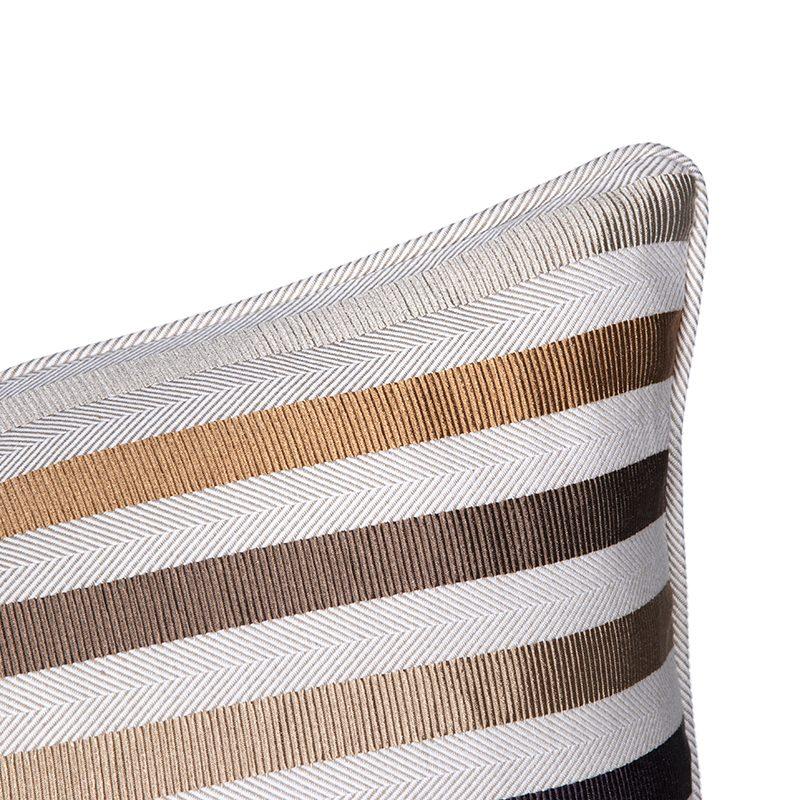 Neutral Textured Stripes Cushion
