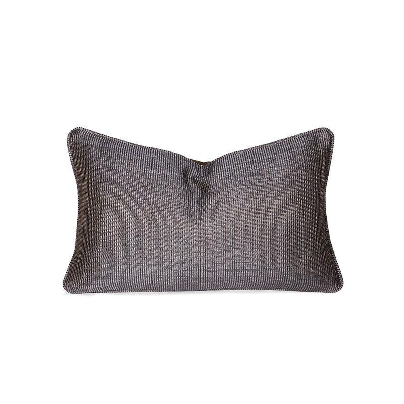 Reversible Orange & Metallic Cushion